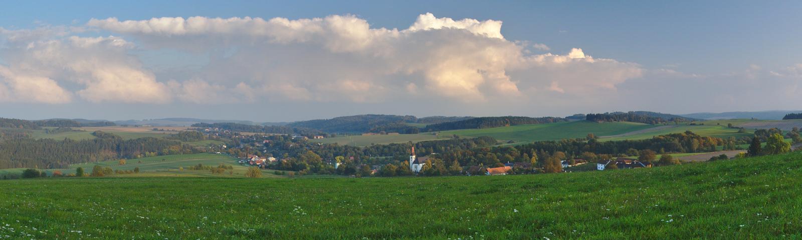 Pohled na obec Kladky